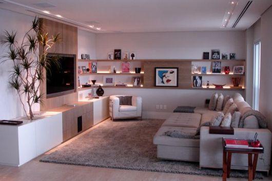 Sof s modernos 55 fotos e modelos for Sofa para sala de tv