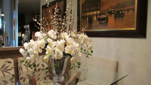 decoração orquídeas brancas