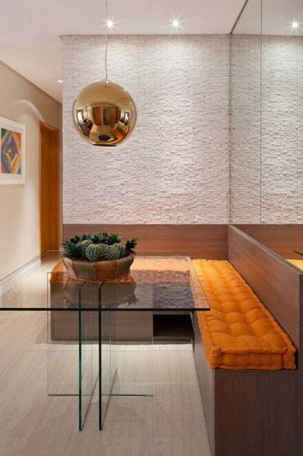 sofá canto sala de jantar