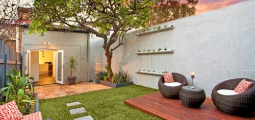 Ideias de jardins para quintais pequenos