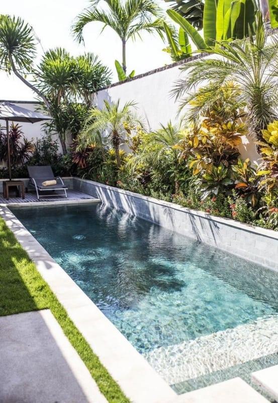 Ideias para jardim pequeno com piscina