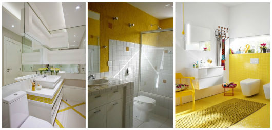 BANHEIRO AMARELO 20 decorações incríveis! -> Decoracao De Banheiro Amarelo