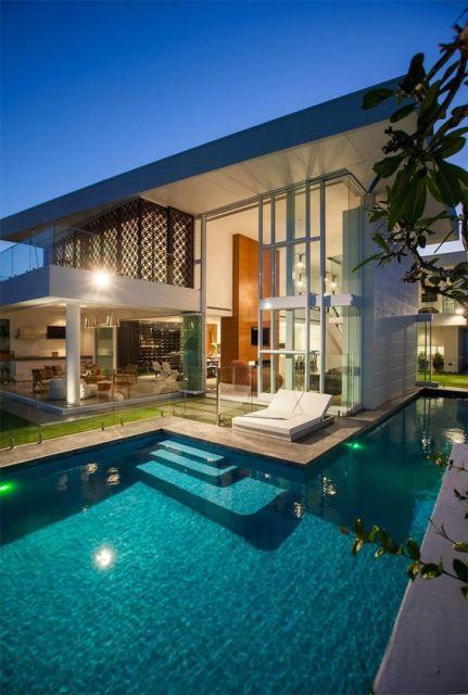 Casas luxuosas e chiques 60 fotos de tirar o f lego for Ideas de piscinas grandes