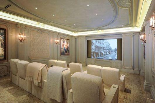 decoração sala home theater