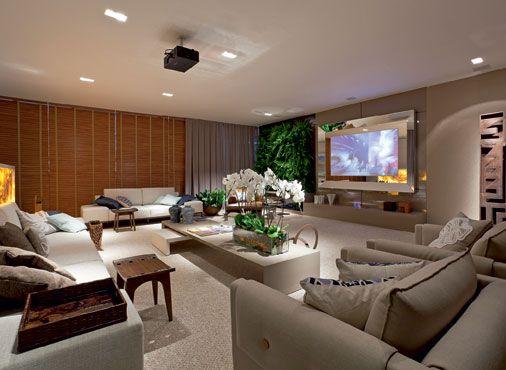 sala de tv chique