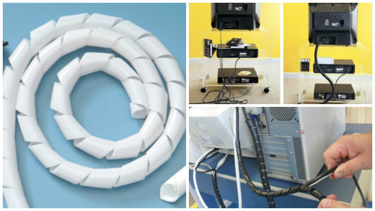 tubo para organizar fios