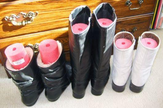 truque para guardar botas