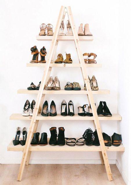 estante de escada