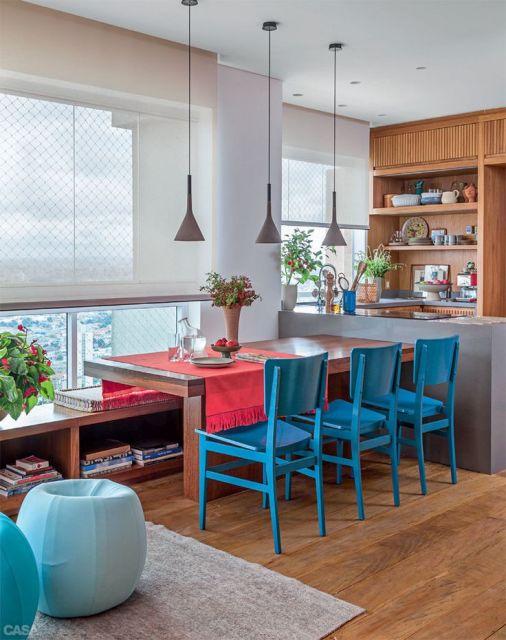 sala jantar colorida