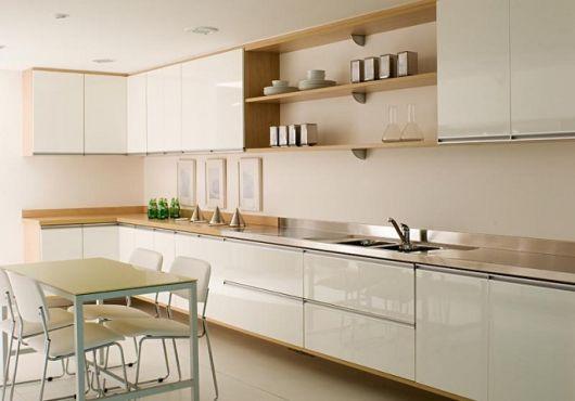 #474330 50 Ideias para Cozinha Branca Combinações e como Decorar 530x370 px Armario De Cozinha Em Juiz De Fora #3002 imagens