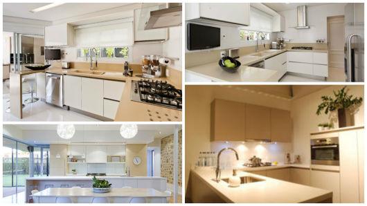 cozinha bege e branca