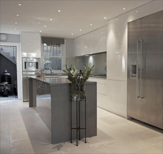 Kitchen Pictures Inspirational Contemporary Kitchen Design: 50 Ideias Para Cozinha Branca: Combinações E Como Decorar