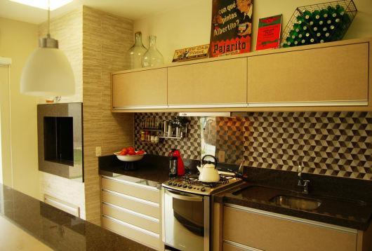 cozinha pequena e vintage