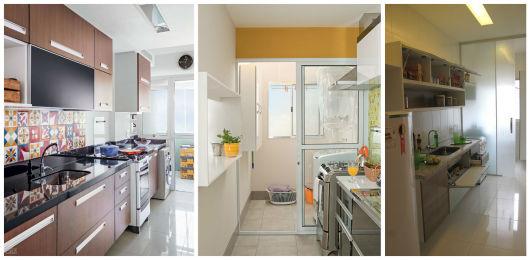 cozinha com porta de vidro