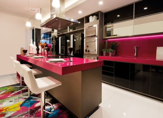 Preto e pink decoração
