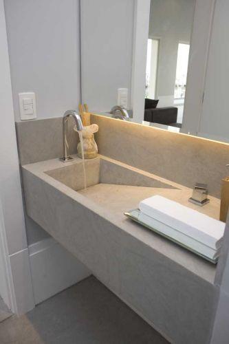 CUBA ESCULPIDA o que é, modelos e materiais! -> Pia De Banheiro Lateral