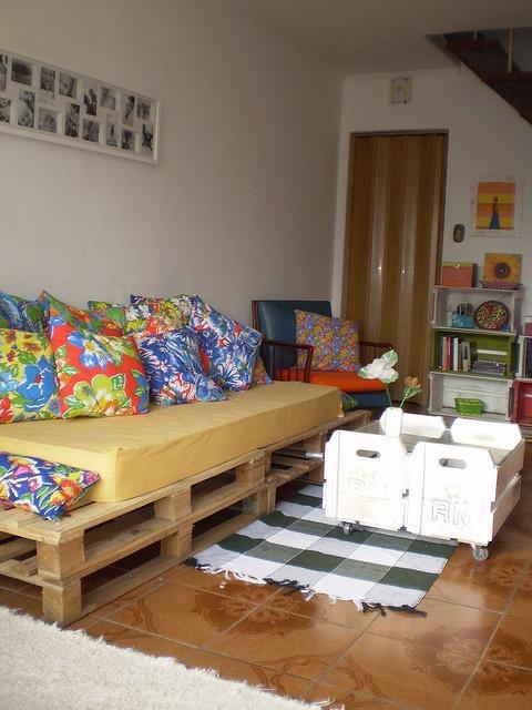 decoração com pallet e caixotes