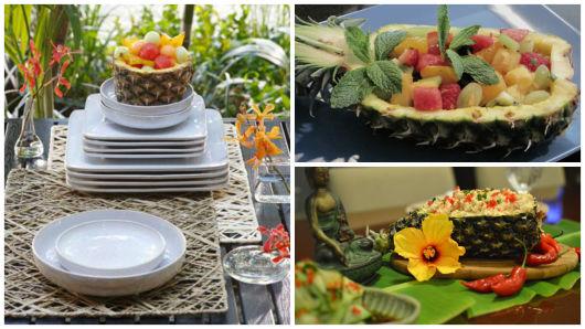 abacaxi como cesta