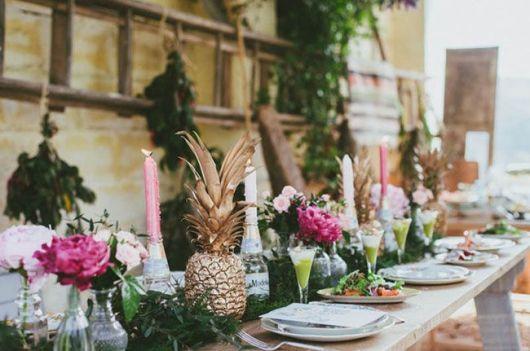decoração mesa de festa