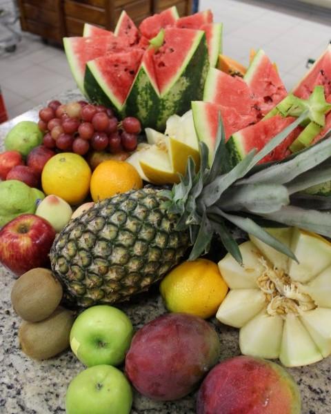 corte melancia e melão