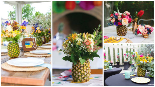 vaso decorativo de abacaxi