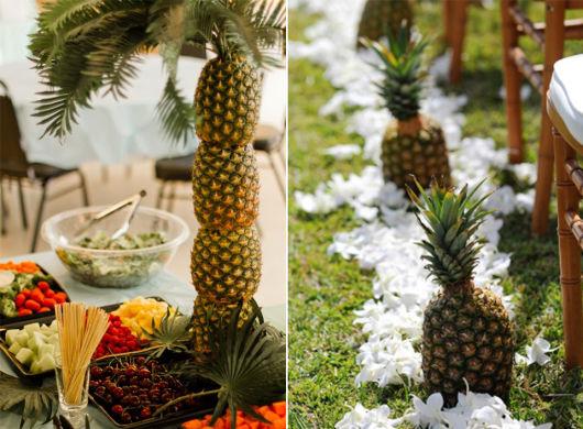 abacaxi na decoração