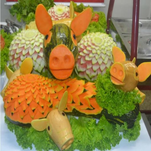 animais feitos de legumes