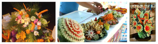 como enfeitar com frutas