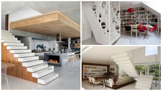 modelos de escada branca