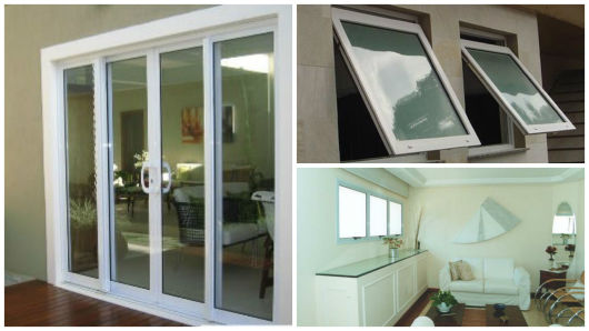 janela e porta de vidro