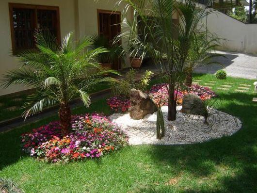 jardinagem com flores