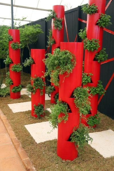 jardim vertical tubo pvc:jardim vertical