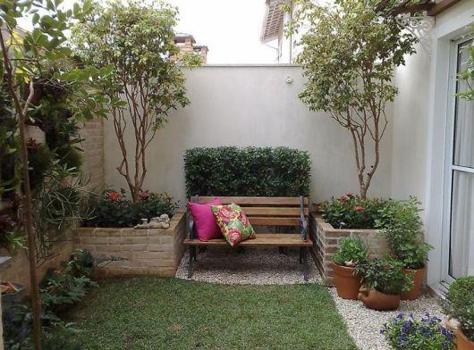 55 jardins pequenos inspiradores dicas e ideias - Como decorar patios pequenos ...