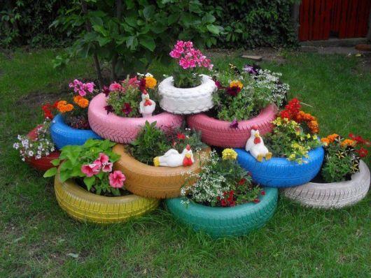 jardim de pneu