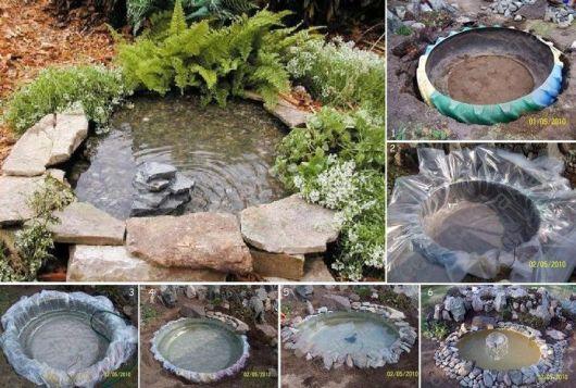 como fazer fonte d'água