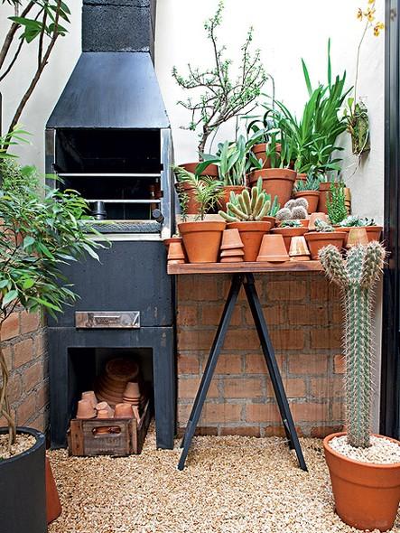 imagens jardim pequeno:decoração com cactos é rústica