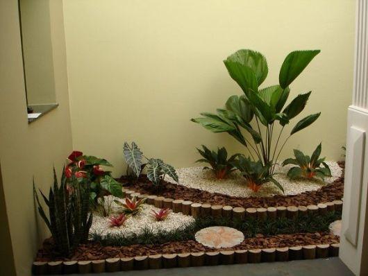 decoração com lascas de madeira