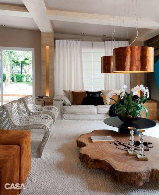 Lustres Para Sala De Estar Simples ~ mesa de centro de madeira é rústica