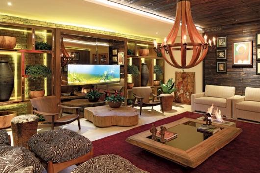 Lustre Para Sala De Estar Rustica ~ estilo bem moderno e com uma combinação de tons metálicos na sala