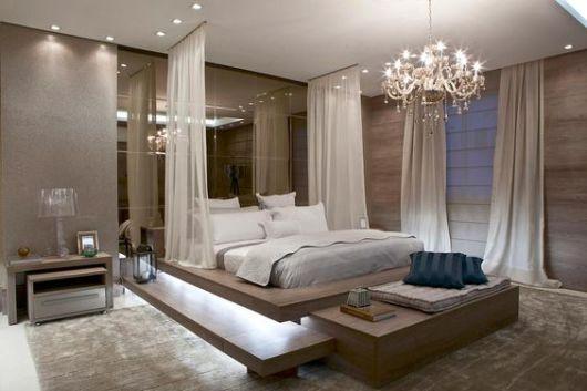 decoração de luxo quarto de casal