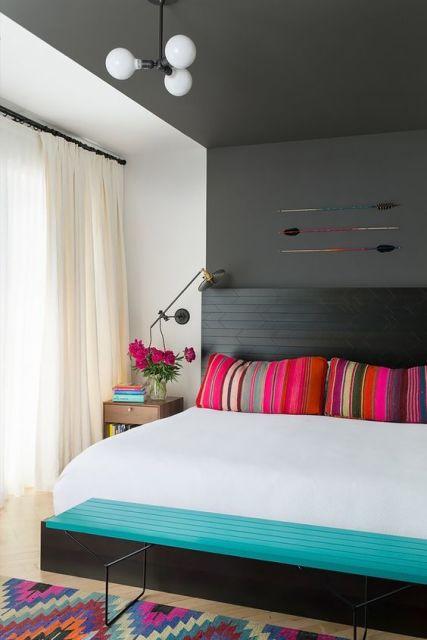 decoração moderna e colorida