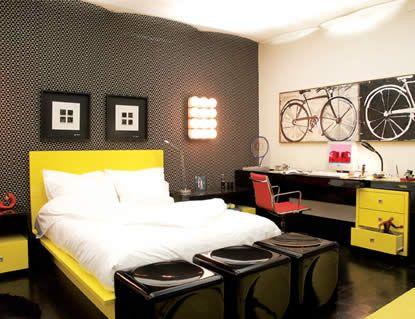 decoração preto e amarelo