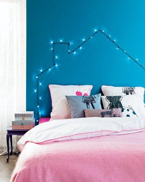 decoração com luzinha de natal