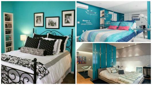 QUARTO AZUL 35 Inspirações Lindas e Como decorar! ~ Quarto Rosa E Azul Tiffany