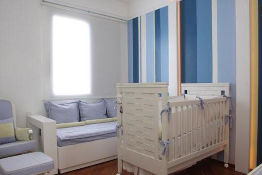 QUARTO DE BEBÊ SIMPLES E BARATO 40 fotos! ~ Quarto Para Bebe Masculino Azul