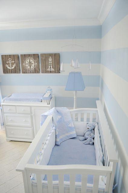 decoração branco e azul