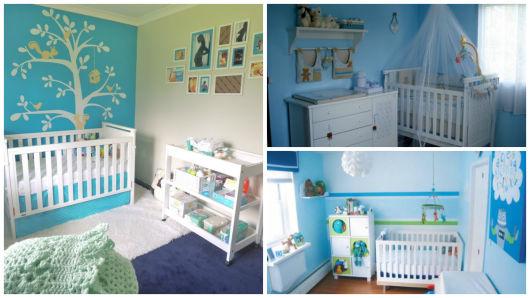 quarto simples azul