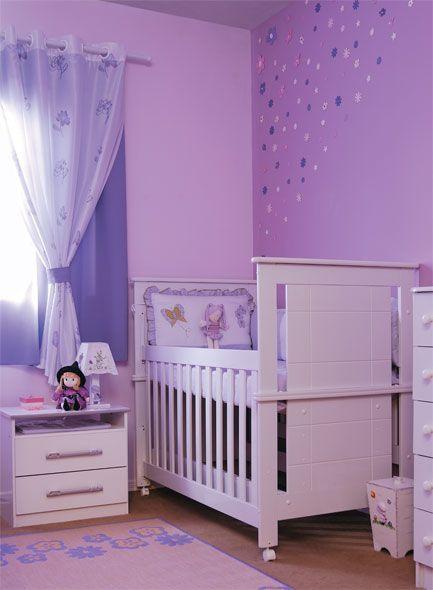Quarto de Bebê SIMPLES E BARATO 40 Inspirações Sensacionais! ~ Quarto Rosa Ou Roxo