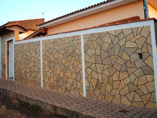 Revestimento para muro tipos e como fazer for Ceramica para revestir paredes