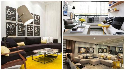 Salas De Estar Super Modernas ~ Sala De Estar Amarela  Sala de estar moderna como decorar